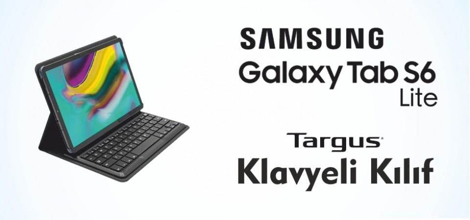 Samsung Galaxy Tab S6 Lite Targus Klavyeli Kılıf Stoklarda