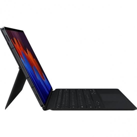 Samsung Galaxy Tab S7+ Plus Klavyeli KILIF Siyah - EF-DT970BBEGTR