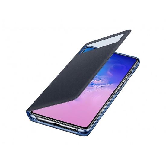 Samsung Galaxy S10 Lite S-View Kılıf - Siyah EF-EG770PBEGWW