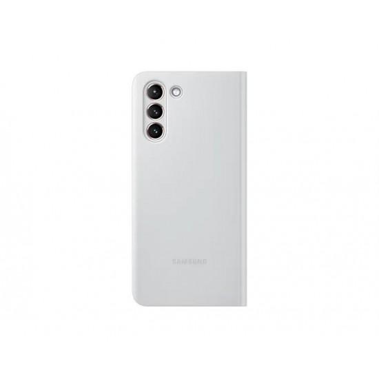Samsung Galaxy S21 Akıllı Clear View Kılıf - Açık Gri EF-ZG991CJEGTR