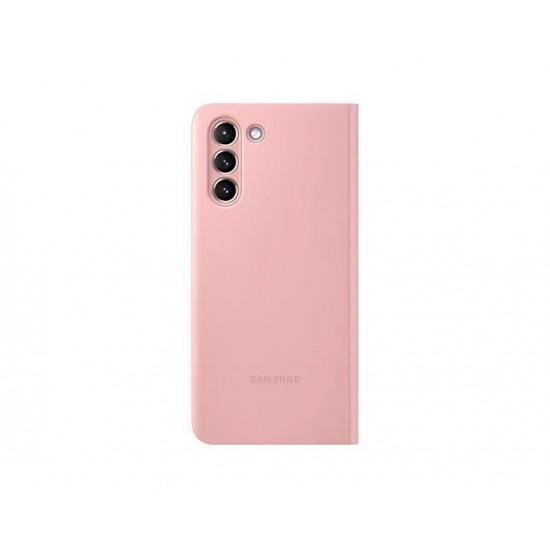 Samsung Galaxy S21 Akıllı Clear View Kılıf - Pembe EF-ZG991CPEGTR
