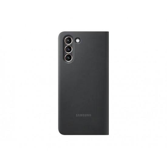 Samsung Galaxy S21 Akıllı Clear View Kılıf - Siyah EF-ZG991CBEGTR