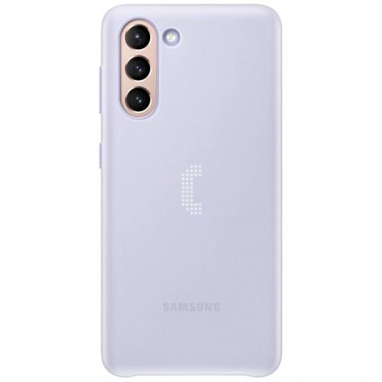 Samsung Galaxy S21 Akıllı Led Kılıf - Mor EF-KG991CVEGTR