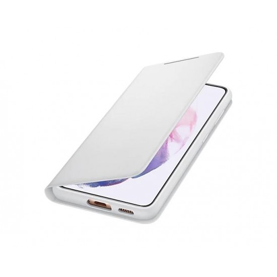 Samsung Galaxy S21 Akıllı Led View Kılıf - Açık Gri EF-NG991PJEGTR