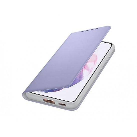 Samsung Galaxy S21 Akıllı Led View Kılıf - Mor EF-NG991PVEGTR