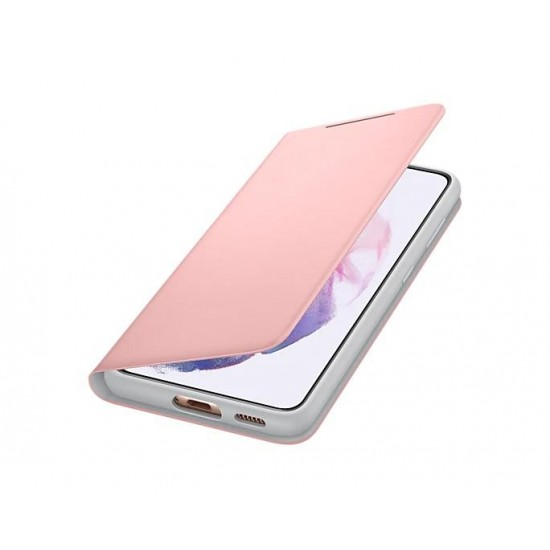 Samsung Galaxy S21 Akıllı Led View Kılıf - Pembe EF-NG991PPEGTR