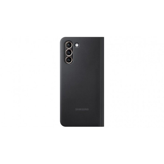 Samsung Galaxy S21 Akıllı Led View Kılıf - Siyah EF-NG991PBEGTR