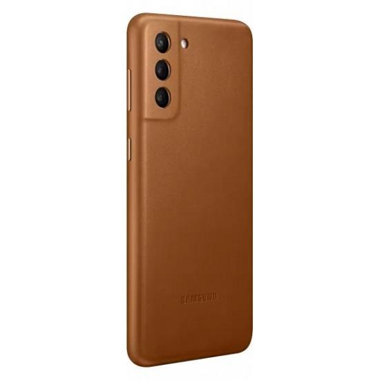 Samsung Galaxy S21 Deri Kılıf - Kahverengi EF-VG991LAEGWW