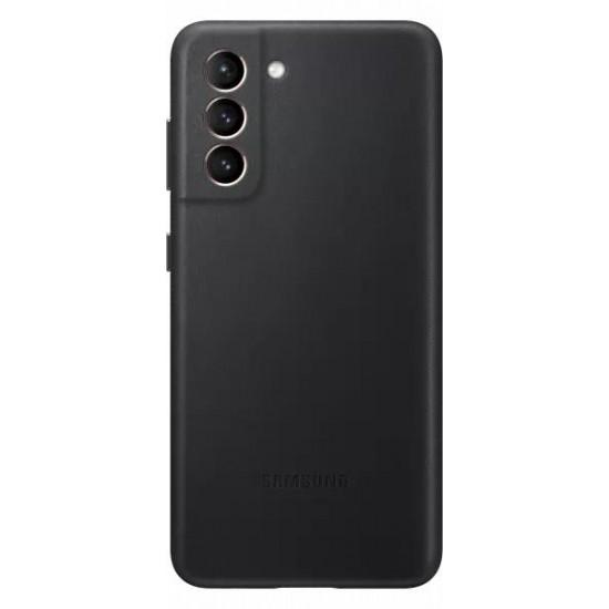 Samsung Galaxy S21 Deri Kılıf - Siyah EF-VG991LBEGWW