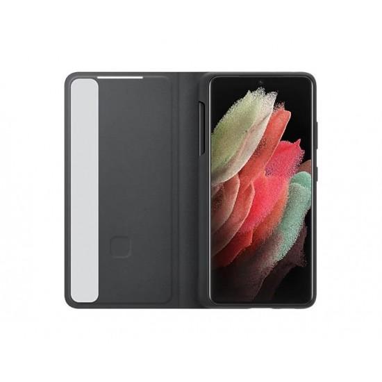 Samsung Galaxy S21 Ultra S-Pen ve Clear View Kılıf - Siyah - EF-ZG99PCBEGWW