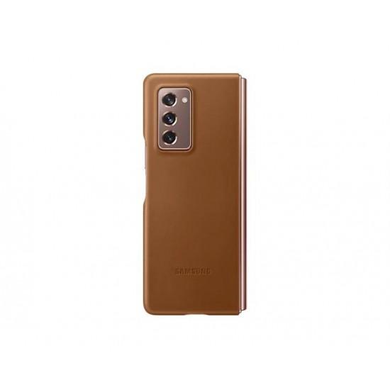 Samsung Galaxy Z Fold2 Deri Kılıf Kahverengi - EF-VF916LAEGWW