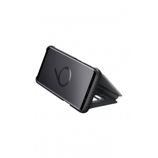 Samsung S9 G960 Clear View Standing Kılıf Siyah EF-ZG960CBEGWW