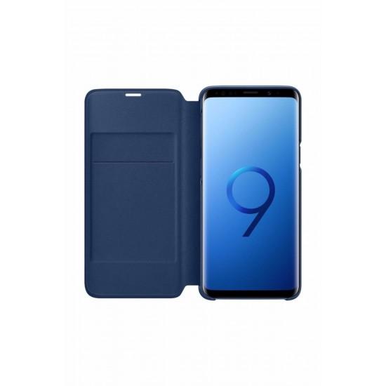 Samsung S9 G960 LED View Kılıf Mavi EF-NG960PLEGWW